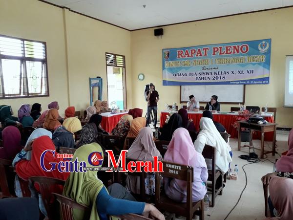 Komite SMKN 1 Terbanggibesar Tidak Transparan, Rapat Wali Murid Ricuh