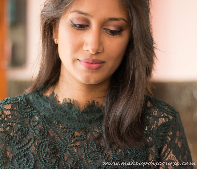 Soft Rose Gold Makeup for Indian skin