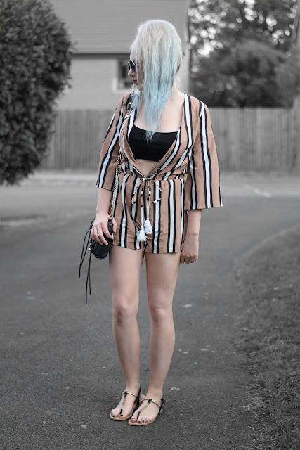 Sammi Jackson - Rosegal Striped Playsuit