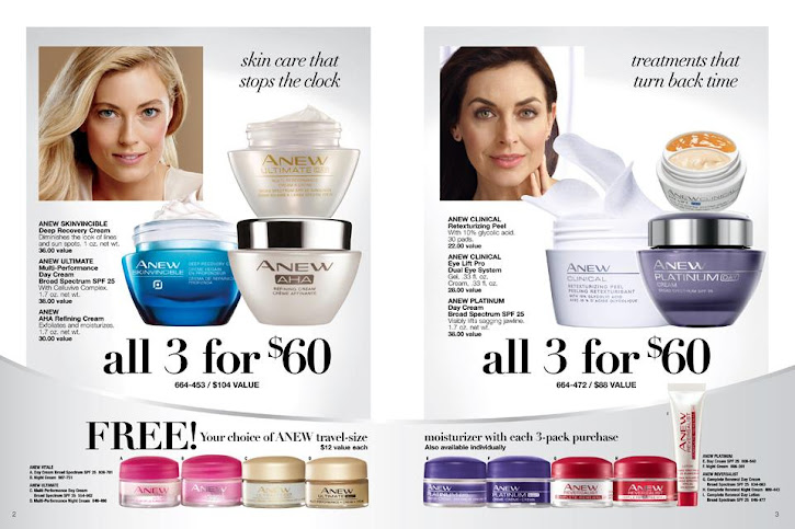 Skin care that stops the clock / Treatments that turn back time.Great savings when you shop bundles in the Avon skincare flyer. Click on image to shop.