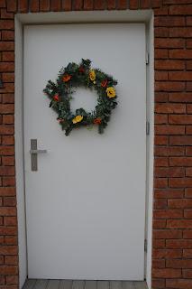 Wiosenny wieniec na drzwi