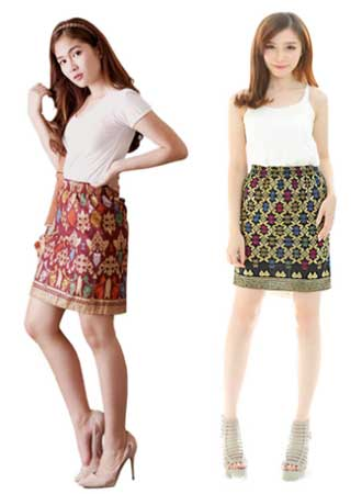 Model rok batik pendek mini