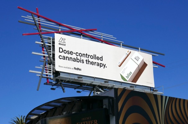 Dosist Dose cannabis therapy billboard