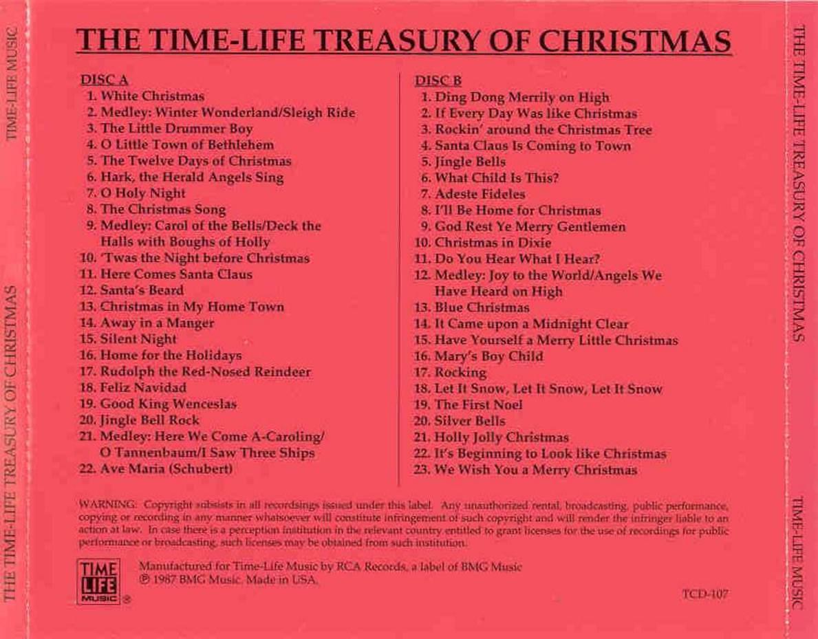 The Time Life Treasury Of Christmas.Music Rewind V A Time Life Treasury Of Christmas Vol