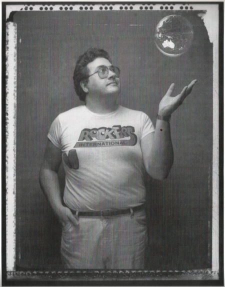 Photo of BFM reggae DJ Duncan Campbell, 1989. Photo by Haru Sameshima/Planet magazine
