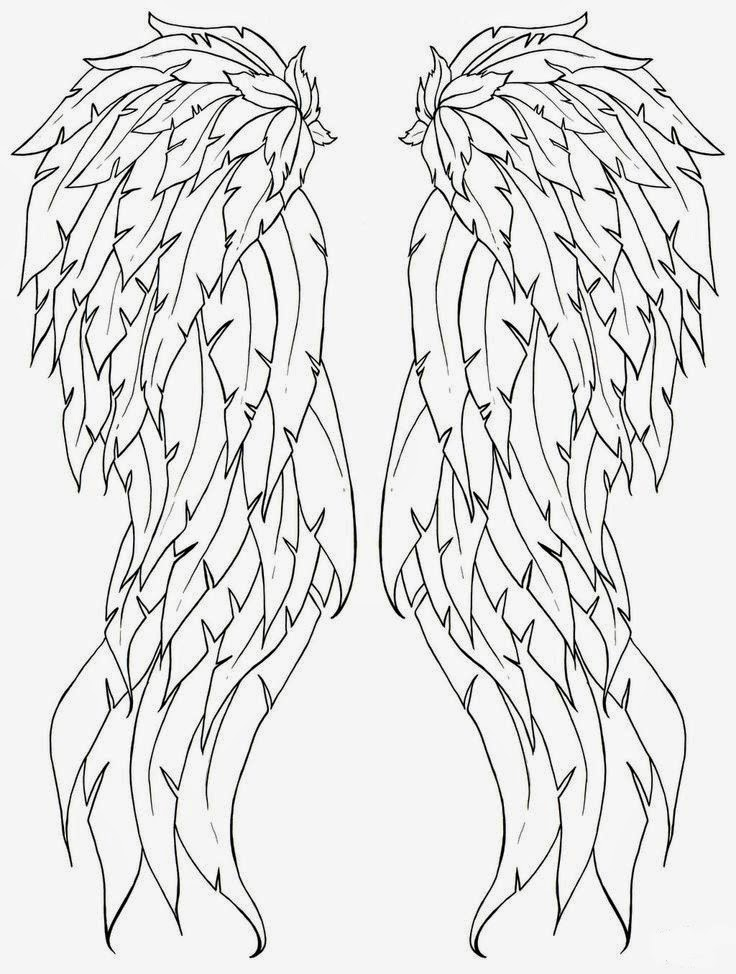 Tattoos Book: +2510 FREE Printable Tattoo Stencils: Wings