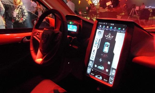 Interior Volt e1 auto eléctrico argentino
