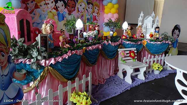 Decoração de festa de aniversário Princesas Baby Disney