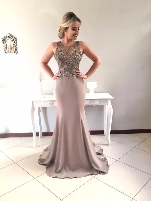 Vestido longo para festa de casamento 2018