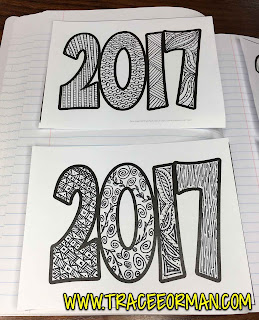 New Year Drawing Coloring Activity