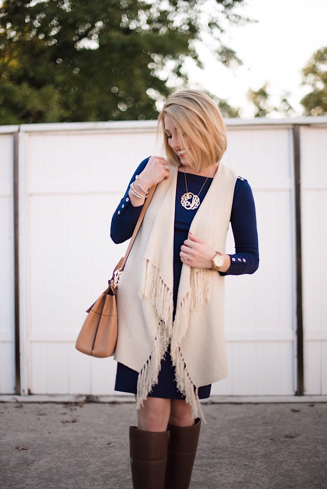 Lilly Pulitzer Andella Sweater Vestl - Rachel Timmerman of Something Delightful Blog