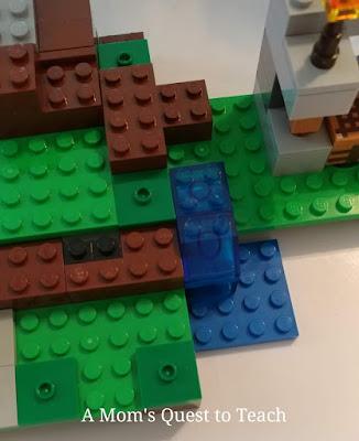 Close up of Iron Golem Lego Build