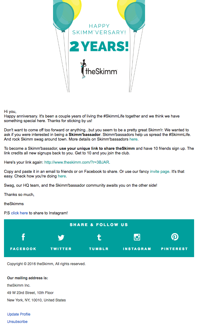 Email Marketing Campaigns - theSkimm
