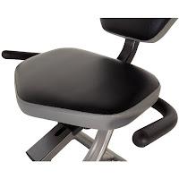 Large cushioned seat on Fitness Reality R4000 Recumbent Exercise Bike, image
