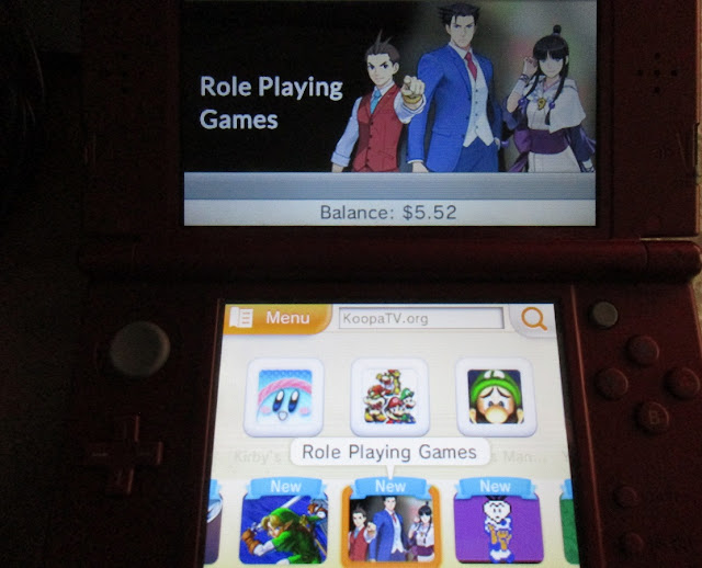 Nintendo eShop Ace Attorney role playing games 3DS