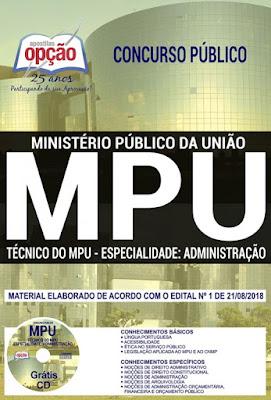 apostila Técnico do MPU - Ministério Público da União