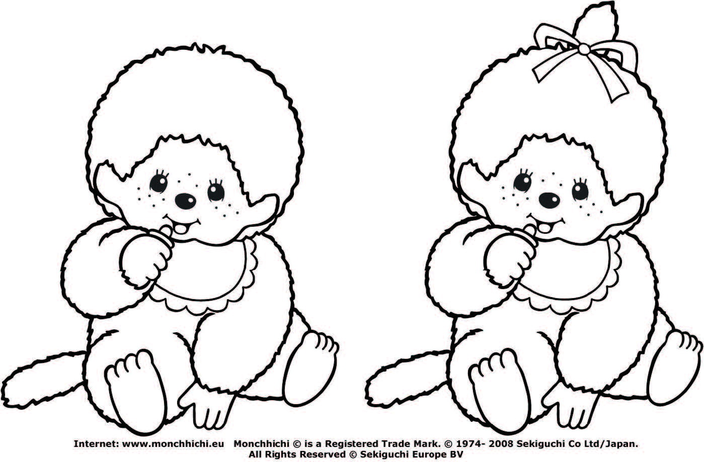 monchichi coloring pages - photo#22