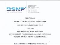 RALAT Kisi-Kisi Soal Ujian Nasional Tahun Pelajaran 2015/2016