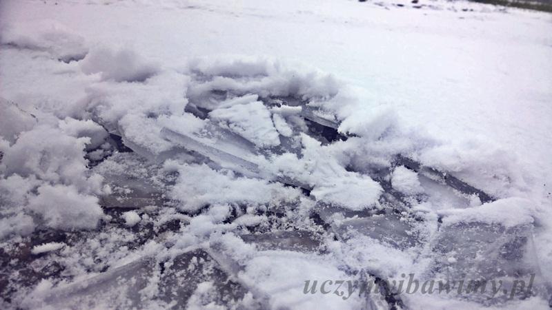 A pod lodem woda