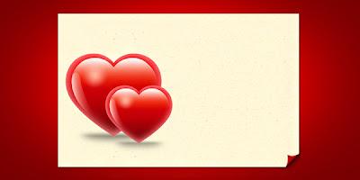 Valentine Hearts Card Template (PSD)