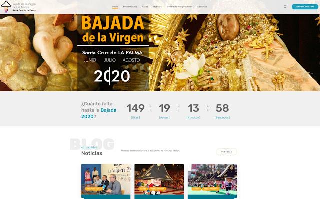 Arranca la página web de la Bajada 2020 como herramienta para difundir unas fiestas únicas