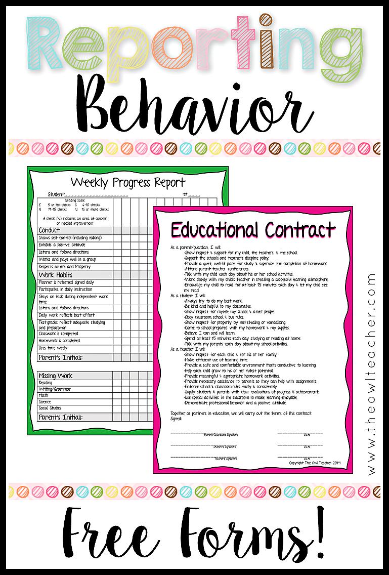 Behavior Ysis   Reporting Behavior In The Classroom The Owl Teacher