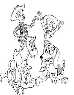 Ausmalbilder Toy Story zum Ausdrucken Kostenlose