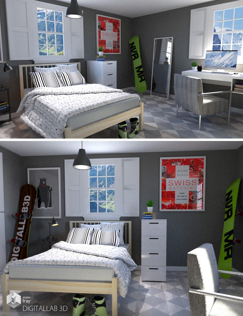 Download daz studio 3 for free daz 3d swiss room for Living room 2 for daz studio