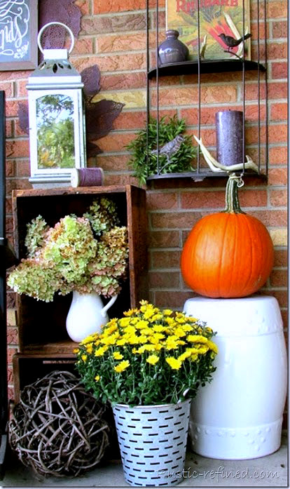 Decorating a porch or patio for Fall