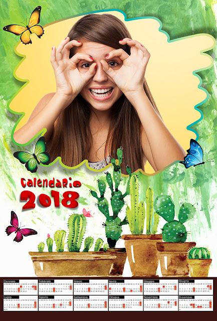"Calendario ""garden"" per 1 foto orizzontale"