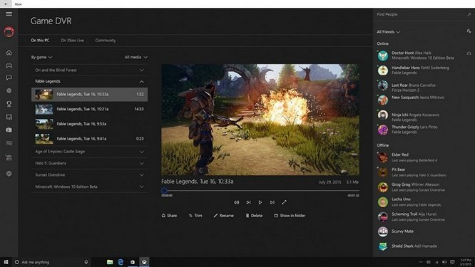 Windows 10 Game Bar