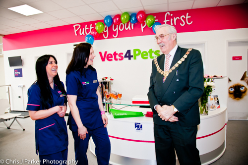 Official opening by mayor Vet 4 Pats