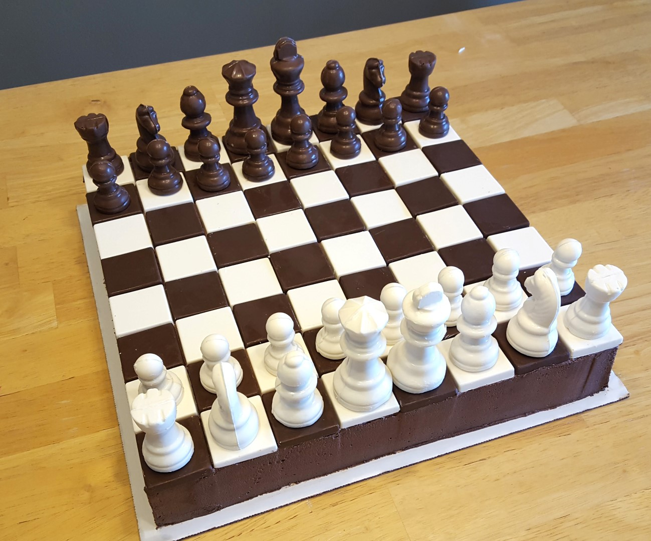 Pleasing Patty Cakes Bakery Chess Board Cake Funny Birthday Cards Online Overcheapnameinfo