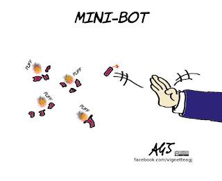 minibot, tria, programma di governo, economia, vignetta, satira