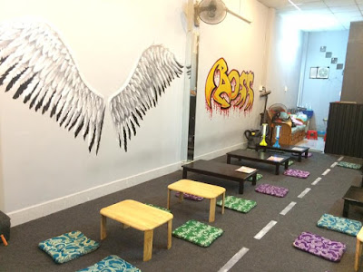 tranh tường 3D đôi cánh thiên thần Bình Dương