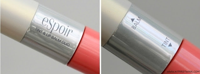 eSpoir Tint and Lip Balm Duo - Girlish Peach middle part