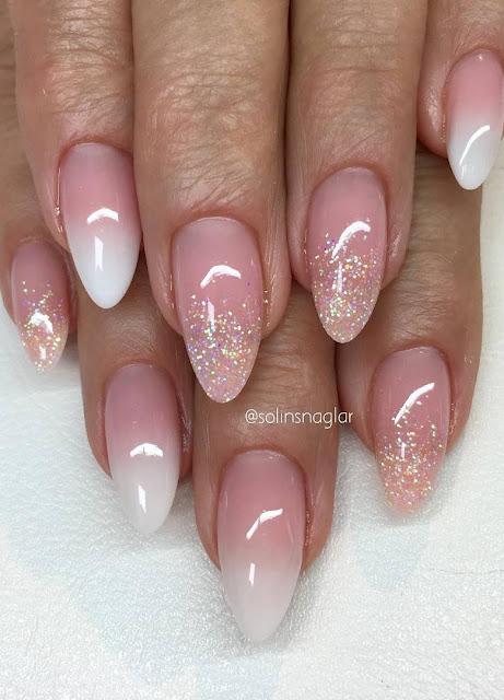 French Ombre med egenblandat glitter