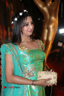 Actress Sanjjanaa Stills in Green Long Dress at Gemini TV Puraskaralu 2016 Event  0011.JPG