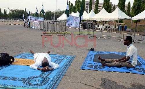 #OccupyNASS: You Will Be Surprised With What These Protesters Are Doing In Front Of National Assembly