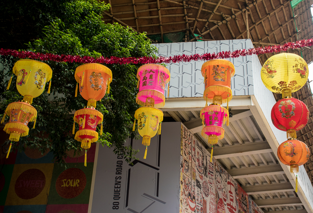 hong kong streets decoration, colorful lanterns