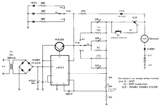 Simple Rapid Battery Charger Circuit Diagram | Electronic