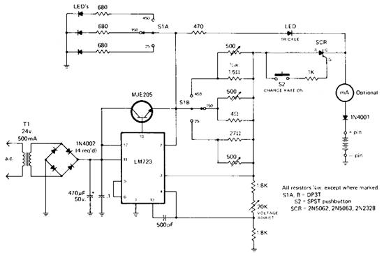 simple rapid battery charger circuit diagram electronic circuit rh circuitsstream blogspot com Battery Charger Circuit Sears Battery Charger Wiring Diagram