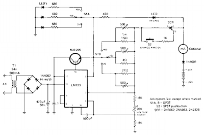 Simple Rapid Battery Charger Circuit Diagram