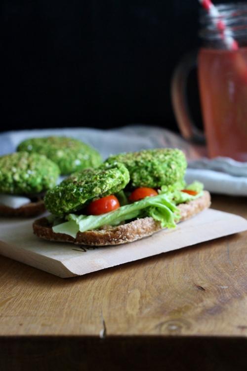 Erbsen - Haferflocken - Patties, vegan und glutenfrei