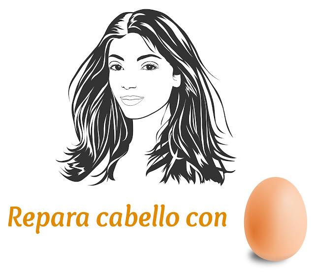repara cabello con huevo