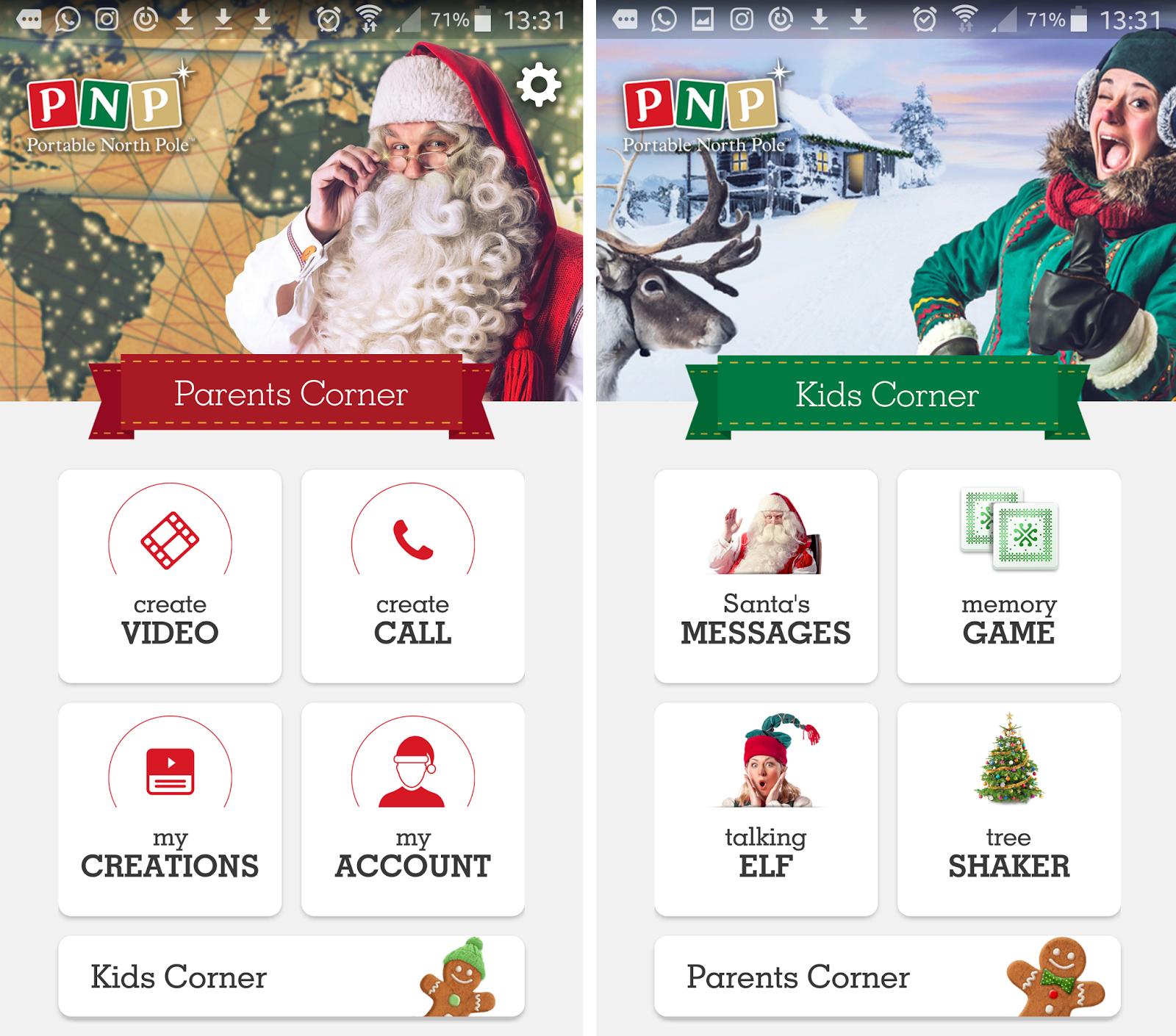 Make Christmas special, Portable North Pole, Message from Santa
