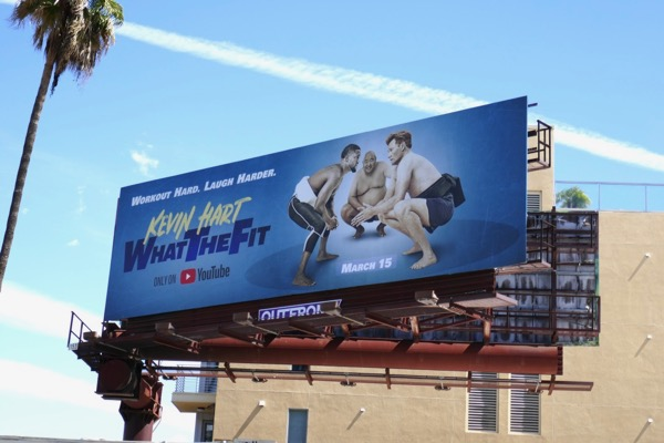 Kevin Hart What the Fit YouTube billboard