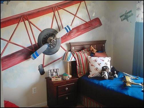 Decoración tema aviones
