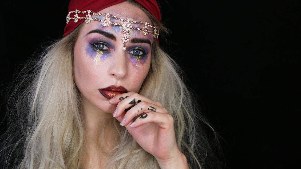 Halloween Fortune Teller Makeup.Halloween Tutorial Fortune Teller Katie Snooks