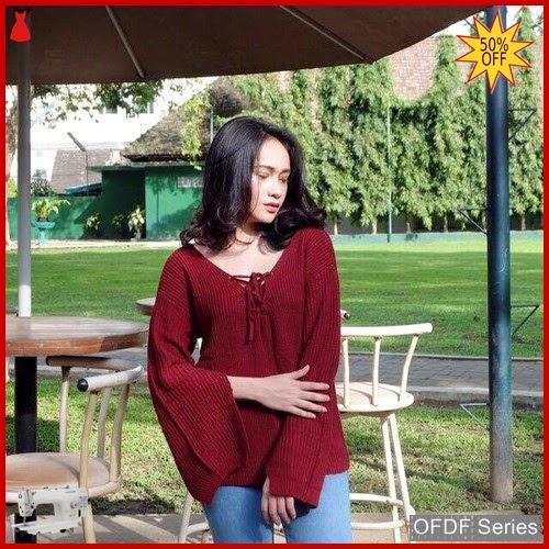 OFDF195 Atasan Blouse Knitt Chebitta Tangan Terompet BMGShop